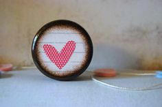 Pink Polka Dot Heart Powder Box by Mmim on Etsy, $6.50