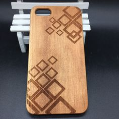 Wood Wooden Phone Case Cover iPhone7 7 Plus 6 6sPlus 5 5s 5se Geometric Engraved #UnbrandedGeneric