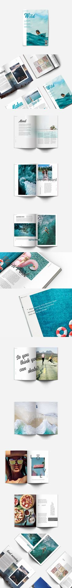 Wild - travel magazine design photography tumblr cover layout beach surfing adventure ocean waves
