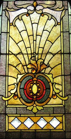 Stained glass window found at Architectural Artifacts in Chicago, Illinois.