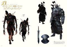 Dark Souls - The Characters of Dark Souls II. Character Concept, Character Art, Character Design, Fashion Souls, Dark Souls 3, Concept Art World, School Of Visual Arts, Monster Design, Soul Art