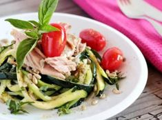 Y Recipe, Clean Recipes, Food Dishes, Green Beans, Zucchini, Spaghetti, Low Carb, Menu, Chicken