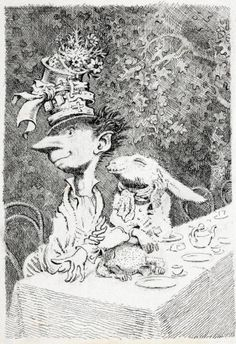 Peake's 'The Mad Hatter's Tea Party', 1945