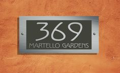 56cb21c87d18 Martello Designer Address Plaque 300mm x 140mm – The Acrylic Master House  Number Plaque, House