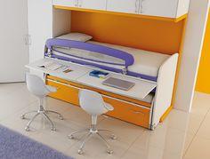 #Arredamento #Cameretta Moretti Compact: Catalogo Start Solutions 2013 >> LH32 #letti #scrivania http://www.moretticompact.it/start.htm