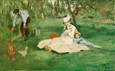 Edouard Manet - La famille Monet au jardin