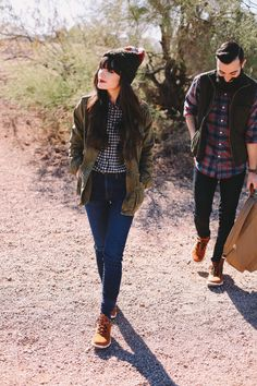 New Darlings - Channeling Autumn in Teva Boots - Camping/Fall Fashion for Couples
