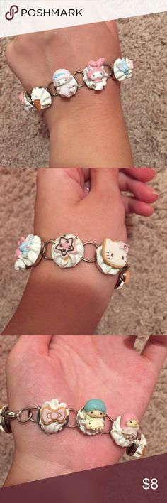Hello kitty and my melody Kawaii bracelet Hello kitty and my melody kawaii bracelet. This bracelet is absolutely adorable! Hello Kitty Jewelry Bracelets