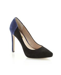 LOUISE ET CIE KRISTEN by Vince Camuto luxe leathers and color blocking - boom boom pow!