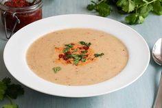 Gluten Free Roasted Cauliflower Soup Recipe #GlutenFree #SimplyGlutenFree
