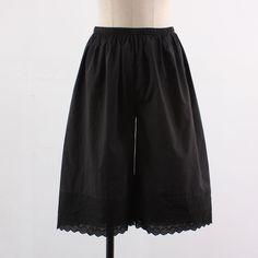 Womens Cotton Black Lace Pettipants / Plus Size / Under pants / Short~Long #SeoArt #DressShorts