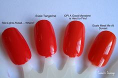 OPI Red Lights Ahead Where comparisson Swatches