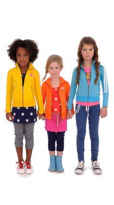 Vest stripe yellow, orange and blue Br@nd for girls summer 2016 www.brandforgirls.nl