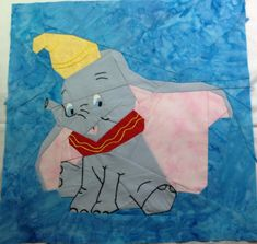 "Dumbo by Lynne Schwarz tested by Inez Larsen 10"" paper pieced"