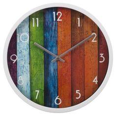 SPLENDID Zegar ścienny Deski kolorowy