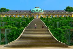 Sans Souci palace in Germany. There are many more of these fairy-tale abodes littered all over Germany.