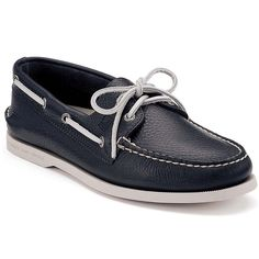 Sperry A/O Navy Leather