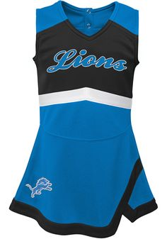 Get your little one ready to cheer on the Detroit Lions in this Lions Set. Rally House has a great selection of new and exclusive Detroit Lions t-shirts, hats, gifts and apparel, in-store and online. Detroit Lions Shirt, Cheer Captain, Lion Hat, Blue Cheer, Baby Blue, Tankini, Swimwear, Shirts, Fan