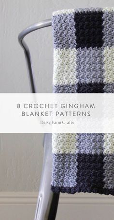 eight Crochet Gingham Blanket Patterns - free (small charge to obtain a PDF model) Crochet Bedspread Pattern, Afghan Crochet Patterns, Baby Knitting Patterns, Crochet Afghans, Crochet Blankets, Baby Blankets, Crochet Baby Blanket Beginner, Modern Crochet Patterns, Modern Fabric