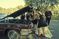 I love this picture! Will be a great idea now that we are adding cars to the theme! Nikki and Lindsay's Wedding Rock n Roll by Nomad Photography