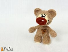 Make one special photo charms for your pets, 100% compatible with your Pandora bracelets.  Plush Teddy Bear woodland plush bear brown stuffed by FerFoxDesign