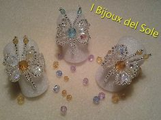 Rings with crystals and Miyuki beads. Venduto-Sold. Disponibile su ordinazione - Available on request