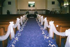 elegant wedding aisle decorations