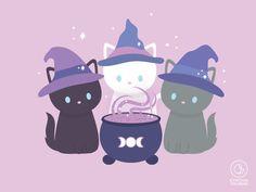 Witch Wallpaper, Halloween Wallpaper Iphone, Halloween Backgrounds, Arte Do Kawaii, Kawaii Art, Kawaii Drawings, Cute Drawings, Bat Pattern, Cute Bat
