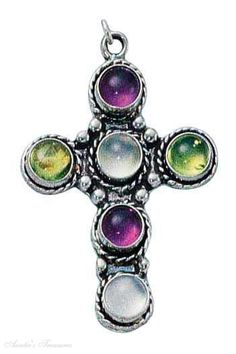 Sterling-Silver-Six-Stones-Amethyst-Peridot-And-Moonstone-Cross-Charm-ch-bdhb-cfaw.jpg (351×527)