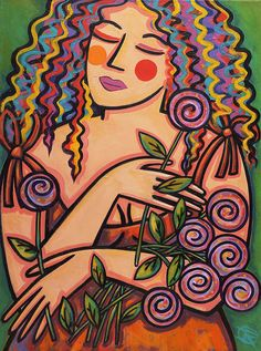 Figurative Poster featuring the painting Fresh Cut Flowers by Ilene Richard