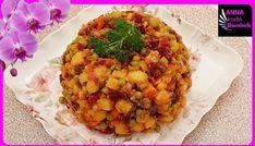 Russischer Vinaigrette Salat - Rezept von Anna Kocht Russisch Vinaigrette, Chana Masala, Cauliflower, Vegetables, Anna, Ethnic Recipes, Food, Youtube, Cooking