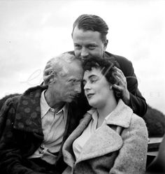 Leonora Carrington, Max Ernst, and a friend, 1937, photo by Lee Miller
