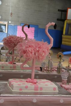 Pink Flamingo Party. Love this for a baby shower or an announcement party well of course for a girl.. <3 now I want to flamingos now for....one day