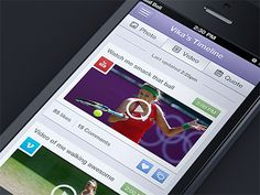 Video_timeline - Mobile interface UI UX