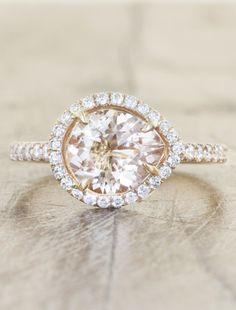 rose gold engagement rings by ken and dana design