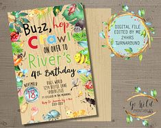 Printable Party Invitations and Printable Decorations by GoWildPrintables Digital Invitations, Party Invitations, Printable Party, 4th Birthday, Etsy Seller, Etsy Shop, Handmade Gifts, Kid Craft Gifts, 4th Anniversary