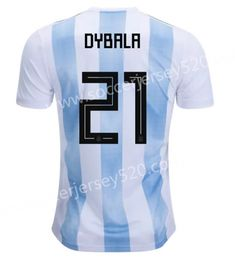 2018 World Cup Argentina  21(Dybala) Home Blue and White Thailand Soccer  Jersey AAA 470c984e4