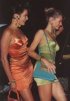 Karen Mulder & Unknown, circa early 90s Uploaded by 80s-90s-supermodels.tumblr.com