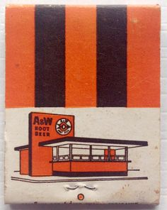 A&W Root beer #drive n #frontstriker #matchbook To design & order your business' #matches goto Getmatches.com #phillumeny