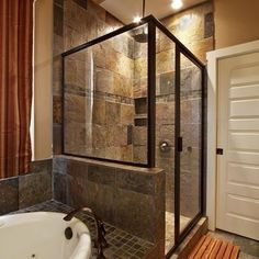 Traditional Bathroom Shower Slate Design, Pictures, Remodel, Decor and Ideas