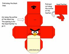 paper crafts | Angry-birds-red-paper-craft by Wise-Guy-1263