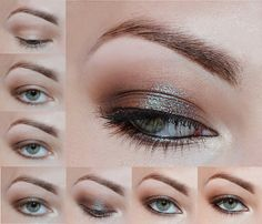 Brown with turquoise - #eyeshadow #eyemakeup #brownshadow #eyes #turquoise #brown #agatawelpamakeup - bellashoot.com