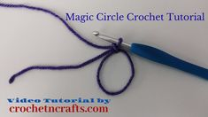 How to Crochet a Magic Circle - Video & Photo Tutorial This video demonstrates how to make a magic circle in crochet. How to Crochet a Magic Circle - Video & Photo Tutorial This video demonstrates how to make a magic circle in crochet. Magic Circle Crochet, Magic Ring Crochet, Crochet Circles, Crochet Round, Filet Crochet, Easy Crochet, Tutorial Crochet, Single Crochet, Crochet Lace