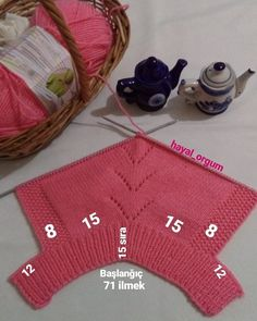 Hi friends 'makes numbers for dress making' - Kindermode Easy Baby Knitting Patterns, Baby Sweater Knitting Pattern, Baby Dress Patterns, Knitting Stiches, Baby Hats Knitting, Diy Crafts Dress, Diy Crafts Crochet, Baby Pullover, Baby Girl Crochet