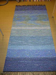 Rag Rugs, Loom Weaving, Recycled Fabric, Woven Rug, Scandinavian Style, Finland, Pattern Design, Recycling, Fiber