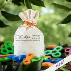 Stick-lets... these look like a pretty awesome new fort building set for kids!