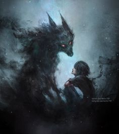 and the boy remembered wolves were strong and fierce. So she became a wolf for him, and together, they'd hunted all who stood in their way. so she became a wolf for him Fantasy Wolf, Dark Fantasy Art, Dark Art, Anime Wolf, Shadow Wolf, Demon Wolf, Werewolf Art, Alpha Werewolf, Wolf Artwork