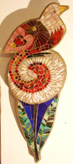 Mosaic Bird and flower