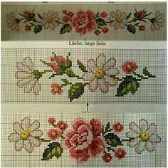 This Pin was discovered by Chr Cross Stitch Bookmarks, Beaded Cross Stitch, Cross Stitch Borders, Cross Stitch Rose, Cross Stitch Flowers, Cross Stitch Designs, Cross Stitching, Cross Stitch Embroidery, Cross Stitch Patterns