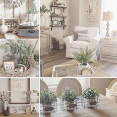 I'm so excited the official start of Fall is just a few weeks away! Give me all the white pumpkins and bring on pumpkin… Home Living Room, Apartment Living, Living Room Decor, Country Decor, Farmhouse Decor, Farmhouse Style, Living Vintage, Décor Boho, Cozy House